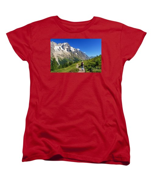 hiking in Ferret Valley Women's T-Shirt (Standard Cut) by Antonio Scarpi