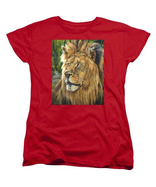 Him - Lion Women's T-Shirt (Standard Cut) by Lori Brackett