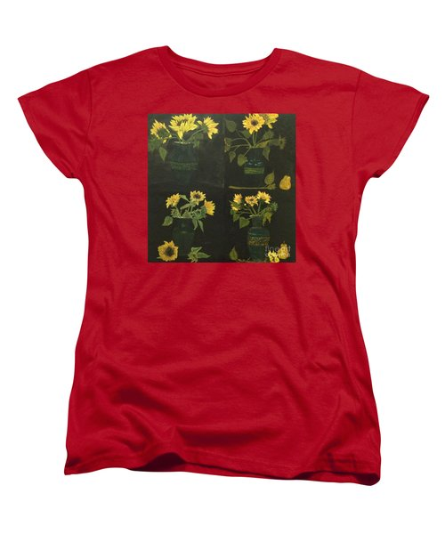 Women's T-Shirt (Standard Cut) featuring the painting Hirasol by Vanessa Palomino