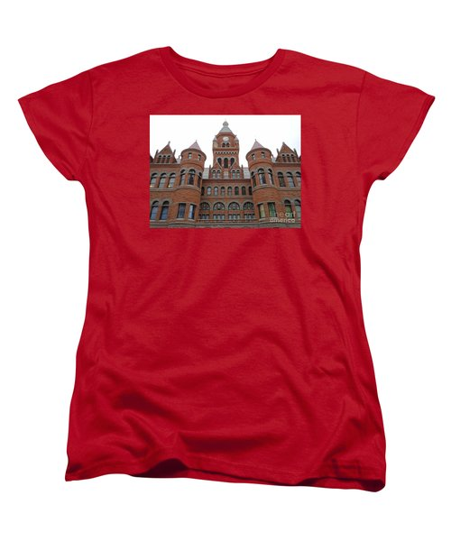Women's T-Shirt (Standard Cut) featuring the photograph Historic Old Red Courthouse Dallas #1 by Robert ONeil