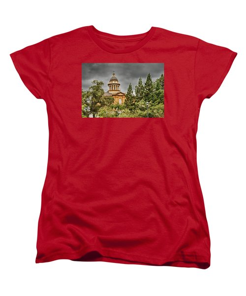 Women's T-Shirt (Standard Cut) featuring the photograph Historic Placer County Courthouse by Jim Thompson