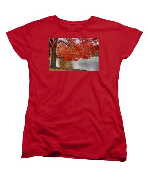 Women's T-Shirt (Standard Cut) featuring the photograph Holding Our Bright Red Joy by Jeff Folger