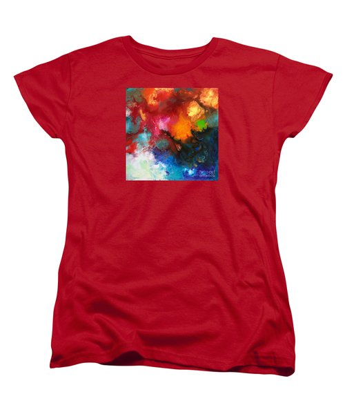 Holding The High Watch Canvas Three Women's T-Shirt (Standard Cut) by Sally Trace