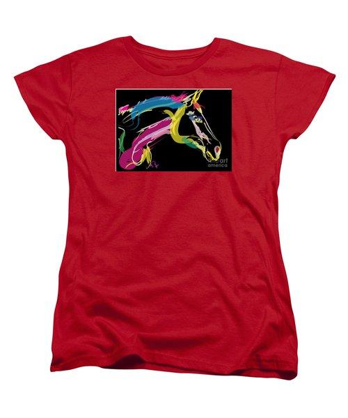 Horse- Lovely Colours Women's T-Shirt (Standard Cut) by Go Van Kampen