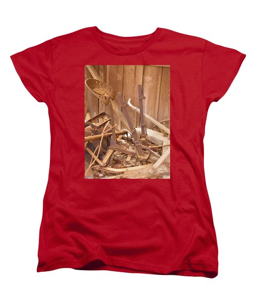 Women's T-Shirt (Standard Cut) featuring the photograph Horsedrawn Disc by Nick Kirby