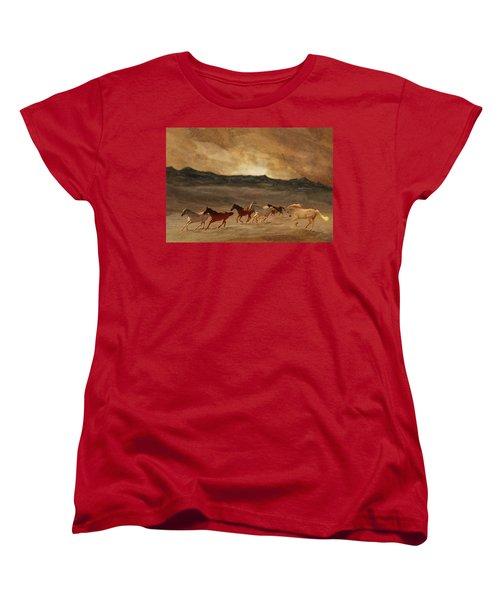 Horses Of Stone Women's T-Shirt (Standard Cut) by Melinda Hughes-Berland