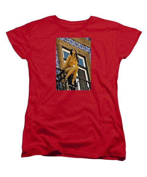 Hot Summer Day In Portugal Women's T-Shirt (Standard Cut) by Michael Cinnamond