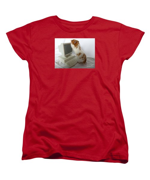 Women's T-Shirt (Standard Cut) featuring the photograph How Do You Switch On This Screen? by Vicki Spindler