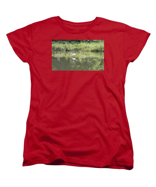 Hunter Reflected 1 Women's T-Shirt (Standard Cut) by Mark Minier