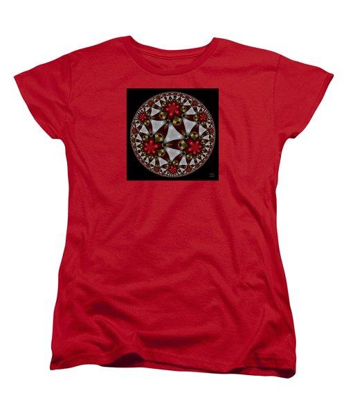 Hyper Jewel I - Hyperbolic Disk Women's T-Shirt (Standard Cut) by Manny Lorenzo
