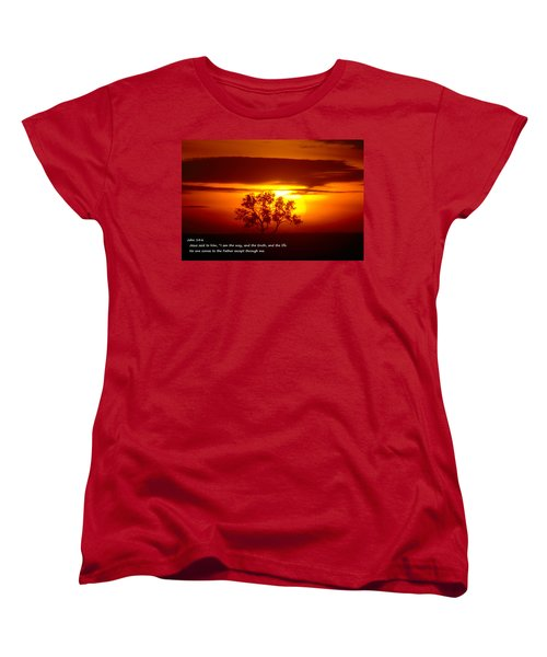 I Am The Way John 14-6 Women's T-Shirt (Standard Cut) by Jeff Swan