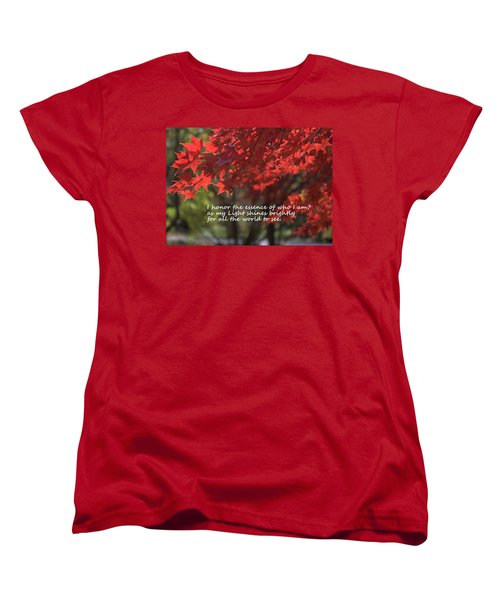 I Honor The Essence Of Who I Am Women's T-Shirt (Standard Cut) by Patrice Zinck