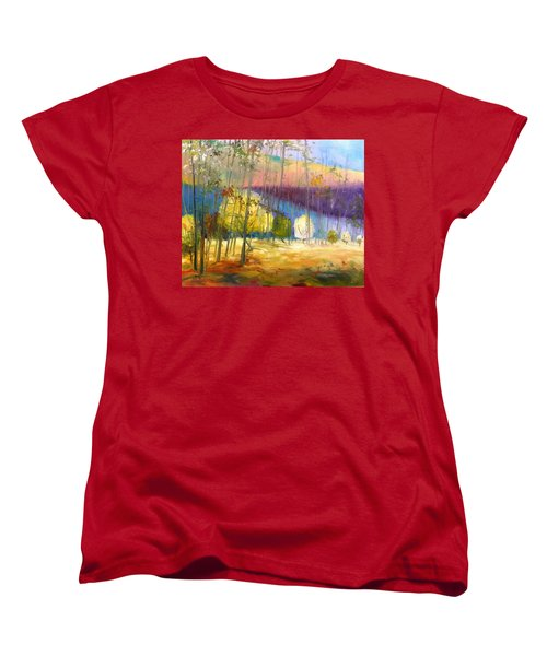 Women's T-Shirt (Standard Cut) featuring the painting I See A Glow by John Williams