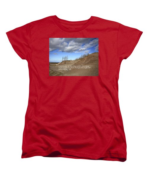 I Surrender To The Flow Of The Universe Women's T-Shirt (Standard Cut) by Patrice Zinck