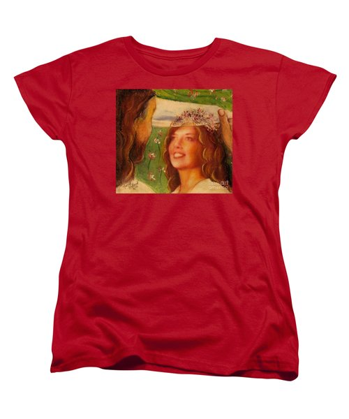 Women's T-Shirt (Standard Cut) featuring the painting I Will Lift The Veil by Hazel Holland