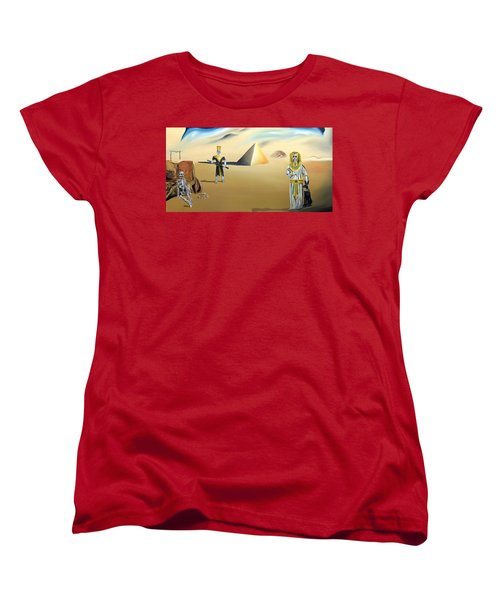 Women's T-Shirt (Standard Cut) featuring the painting Immortality by Ryan Demaree