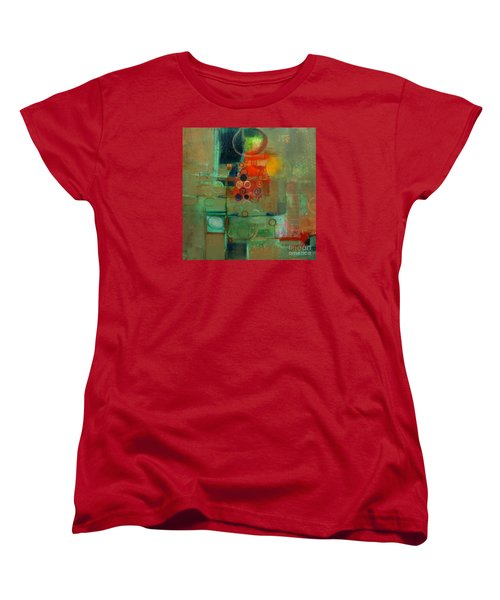 Women's T-Shirt (Standard Cut) featuring the painting Improvisation by Michelle Abrams