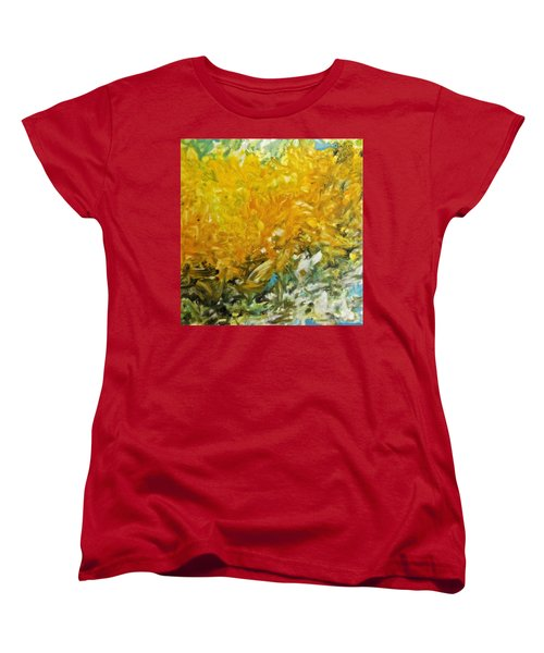 Women's T-Shirt (Standard Cut) featuring the painting In My Magic Garden by Joan Reese