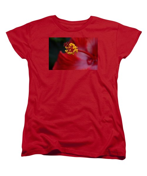 Women's T-Shirt (Standard Cut) featuring the photograph In Red by Larry Bishop