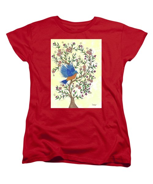 In The Garden - Bluebird Women's T-Shirt (Standard Cut) by Susie WEBER