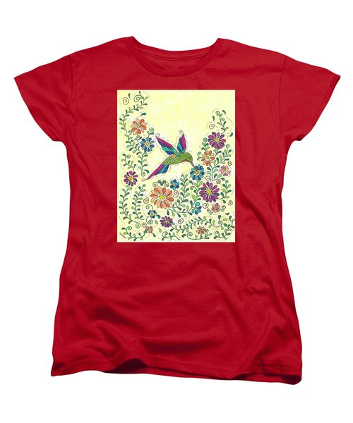 In The Garden - Hummer Women's T-Shirt (Standard Cut) by Susie WEBER