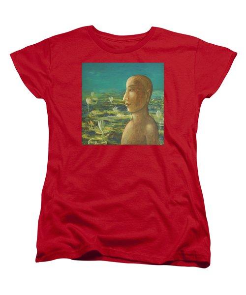 In The Realm Of Buddha Women's T-Shirt (Standard Cut) by Mini Arora