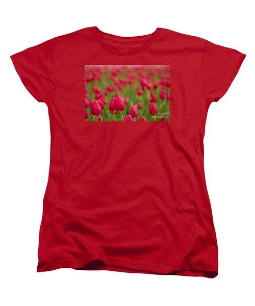 Women's T-Shirt (Standard Cut) featuring the photograph Seeing Red by Nick  Boren