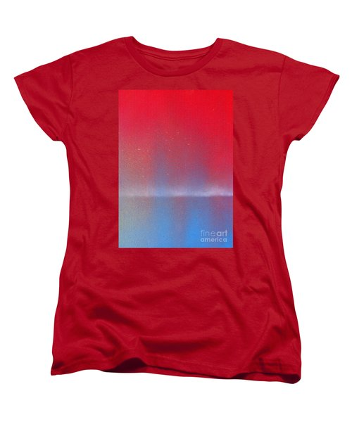 Women's T-Shirt (Standard Cut) featuring the painting In This Twilight by Roz Abellera Art