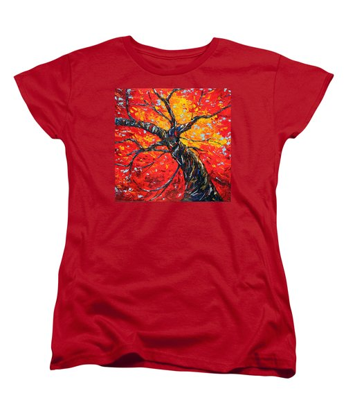 Women's T-Shirt (Standard Cut) featuring the painting In Your Light by Meaghan Troup