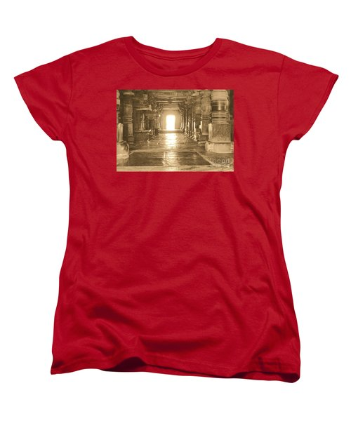 Women's T-Shirt (Standard Cut) featuring the photograph Indian Temple by Mini Arora
