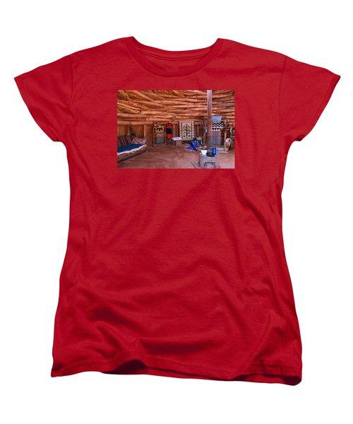 Inside A Navajo Home Women's T-Shirt (Standard Cut) by Diane Bohna