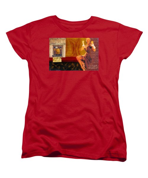 Women's T-Shirt (Standard Cut) featuring the mixed media Inspected by Desiree Paquette