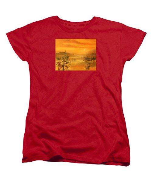 Intense Orange Women's T-Shirt (Standard Cut) by Remegio Onia