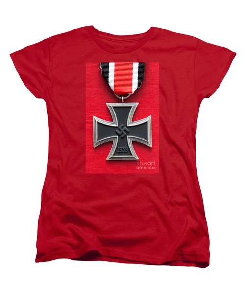 Iron Cross Medal Women's T-Shirt (Standard Cut) by Lee Avison