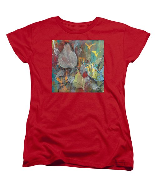 Women's T-Shirt (Standard Cut) featuring the painting It's Electric by Robin Maria Pedrero
