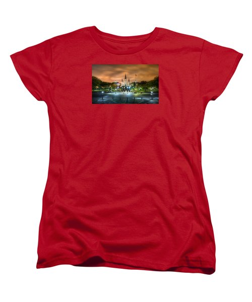 Jackson Square At Night Women's T-Shirt (Standard Cut) by Tim Stanley