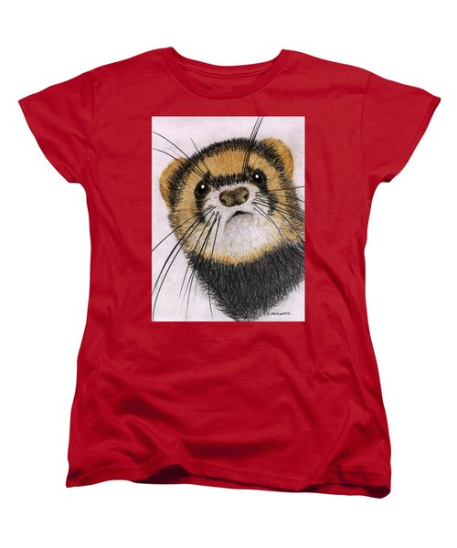 Women's T-Shirt (Standard Cut) featuring the drawing Jasper by Barbara Moignard
