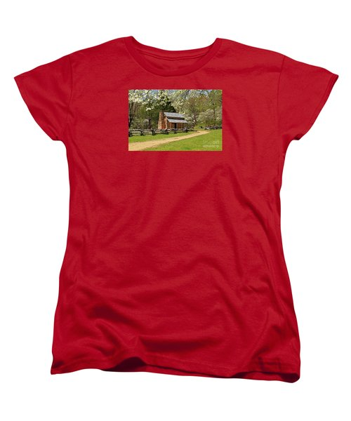 Women's T-Shirt (Standard Cut) featuring the photograph John Oliver's Cabin by Geraldine DeBoer