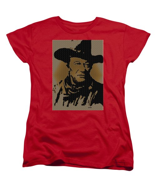 John Wayne Lives Women's T-Shirt (Standard Cut) by Robert Margetts