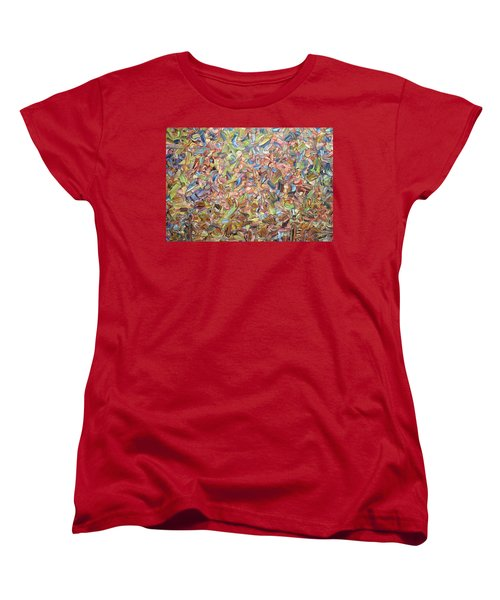 Women's T-Shirt (Standard Cut) featuring the painting June by James W Johnson