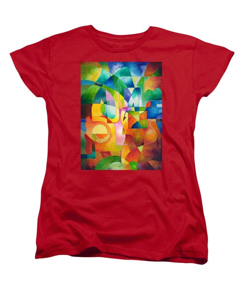 Just Outside Women's T-Shirt (Standard Cut) by Sally Trace