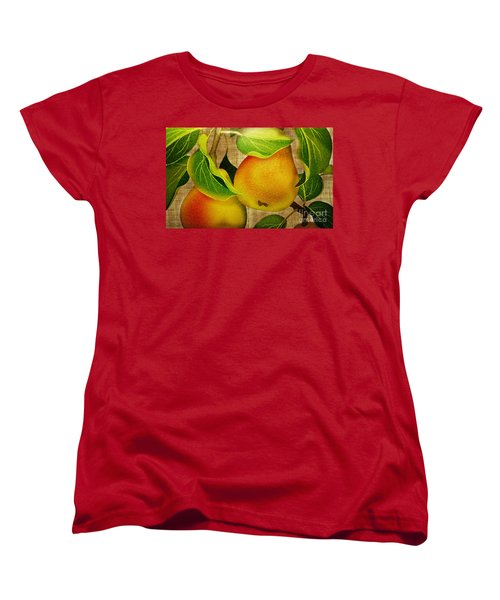 Women's T-Shirt (Standard Cut) featuring the photograph Just Pears by Judy Palkimas