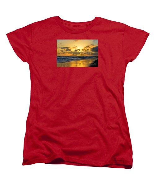 Kauai Sunset With Niihau On The Horizon Women's T-Shirt (Standard Cut) by Catherine Sherman