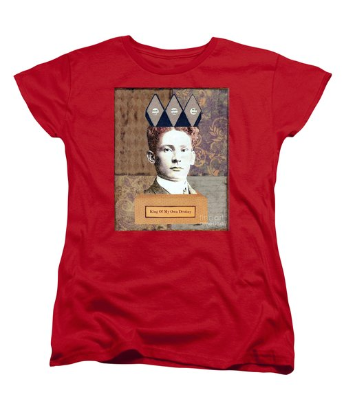 Women's T-Shirt (Standard Cut) featuring the mixed media King Of My Own Destiny by Desiree Paquette
