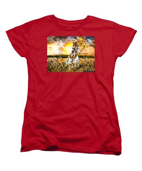 Kingdom Gold Women's T-Shirt (Standard Cut) by Dolores Develde