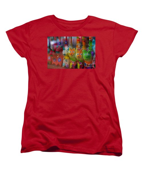Women's T-Shirt (Standard Cut) featuring the photograph Kitty Kitty  by John S