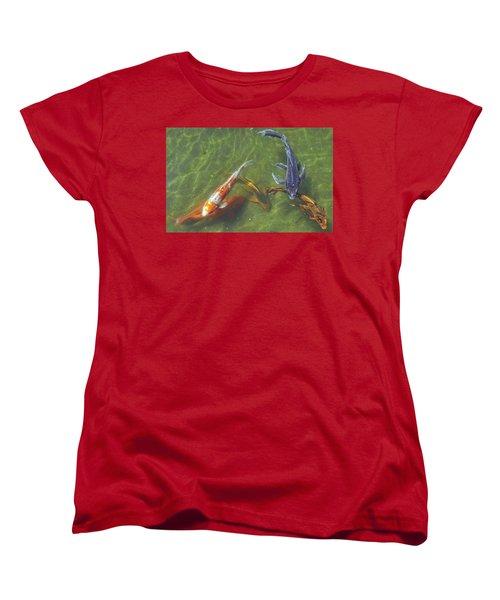 Koi Women's T-Shirt (Standard Cut) by Daniel Sheldon