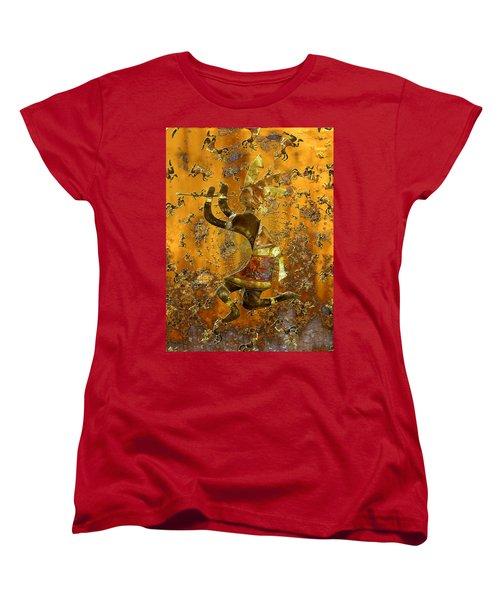 Kokopelli Women's T-Shirt (Standard Cut) by Kurt Van Wagner