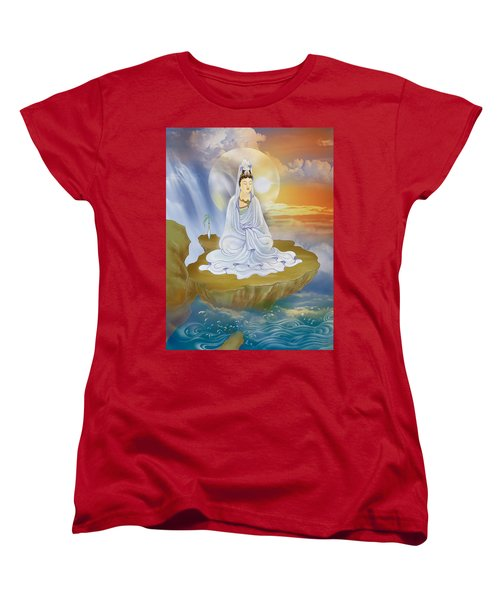 Women's T-Shirt (Standard Cut) featuring the photograph Kwan Yin - Goddess Of Compassion by Lanjee Chee