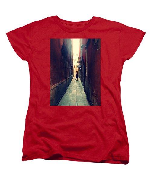 Women's T-Shirt (Standard Cut) featuring the photograph La Cameriera  by Micki Findlay